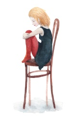 fille assise sur chaise